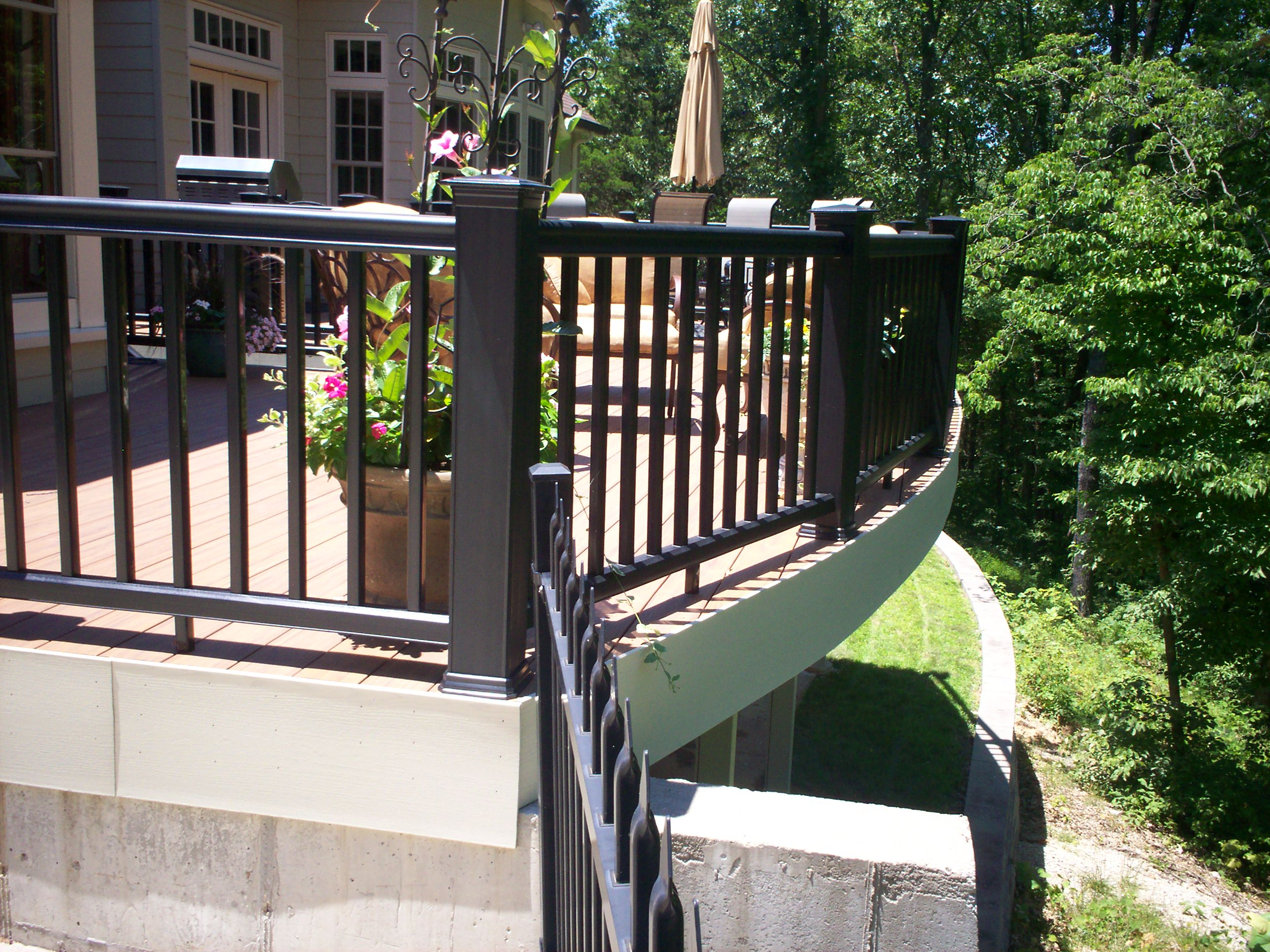 Curved Railing For Deck In St Louis And St Charles Area St Louis Decks Screened Porches