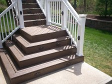 Deck Steps With Flared Design, St. Louis County, by Archadeck