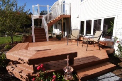 Glass Deck Railing, White Picket Deck Railing, Benches as Deck Railing by Archadeck