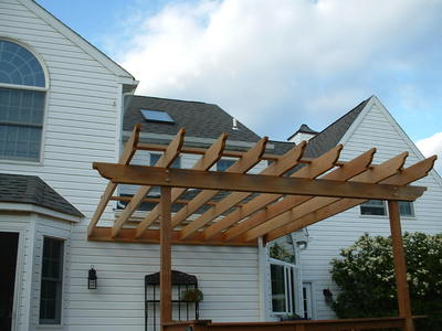Backyard Shade Pergola For Deck