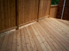 Cedar Deck with Privacy Wall, St. Louis Mo, Archadeck