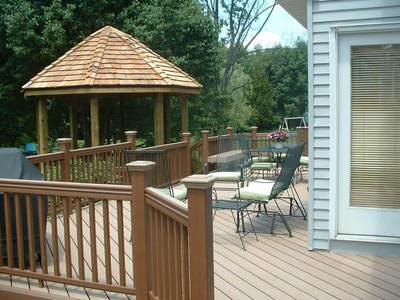 Decks with gazebos st louis decks screened porches for Decks and gazebos