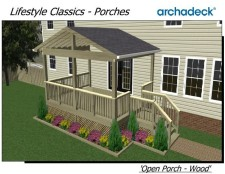 Open Porches in St. Louis and St. Charles - Wood or Hardwoods - by Archadeck