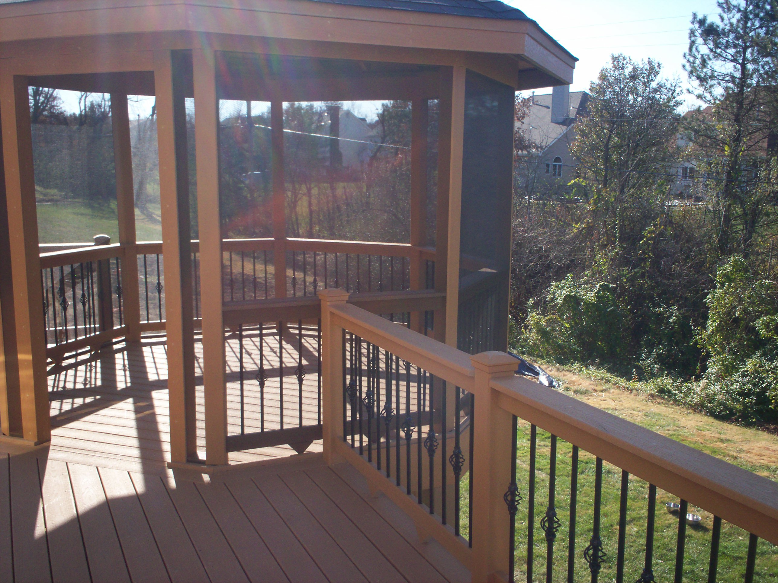 screened gazebo and composite deck in st louis and st charles area - Screened Gazebo