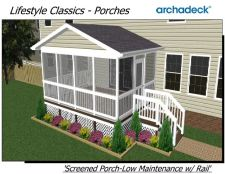 Screened Porches in St. Louis and St. Charles - Composite or Vinyl - by Archadeck