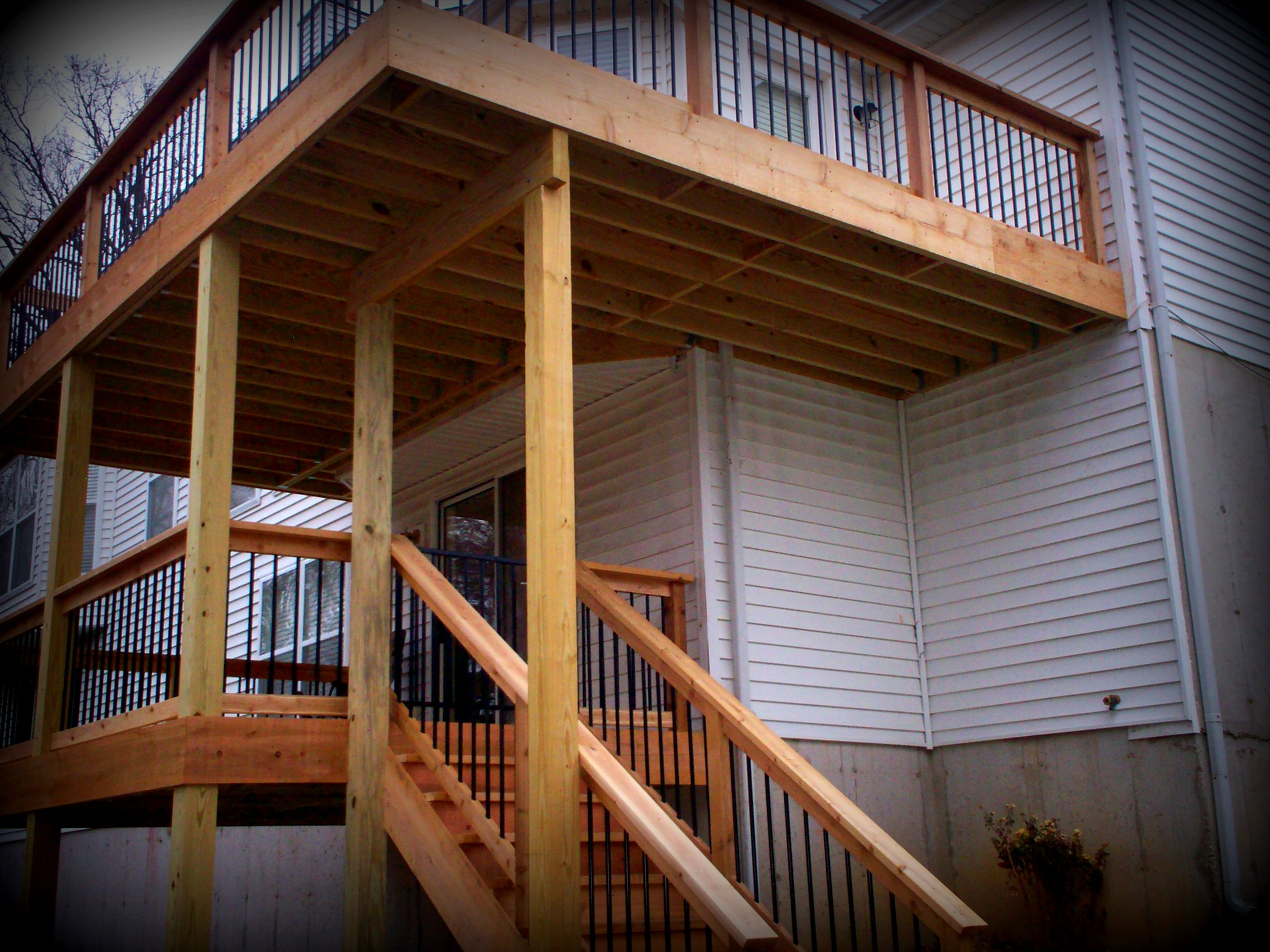 Deck builders chesterfield mo platform or elevated decks for Deck blueprints