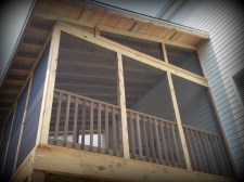 Cedar Screened Porch in St. Louis by Archadeck, Chesterfield area