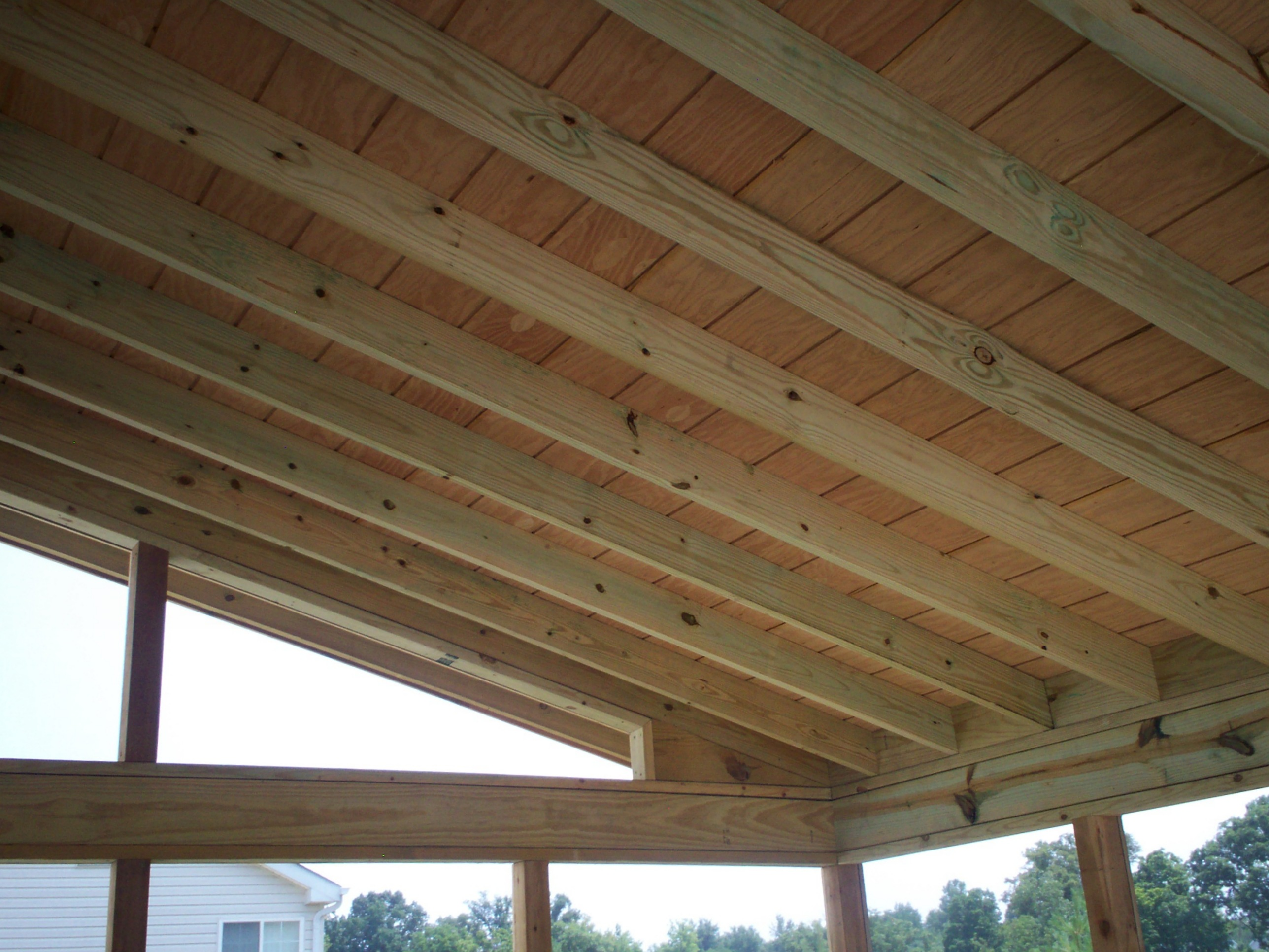 Ceiling Finish For Wood Screened Porch In St Louis