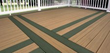 EverGrain Composite Deck - Forest Green with Cedar, photo by Tamko