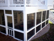Screened Porch under Elevated Deck by Archadeck, St. Louis and St. Charles Mo