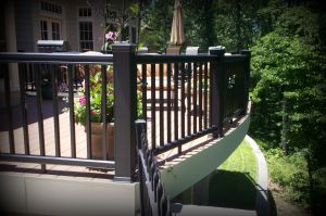 Vinyl Deck with Curved Rails by Archadeck, St. Louis and St. Charles Mo