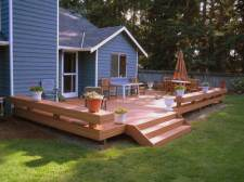 Decks, Wide Stairs, Benches as Railing by Archadeck