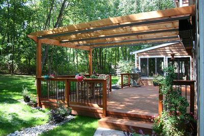 Pergola for Wood Deck & Pergola for Wood Deck | St. Louis decks screened porches ...