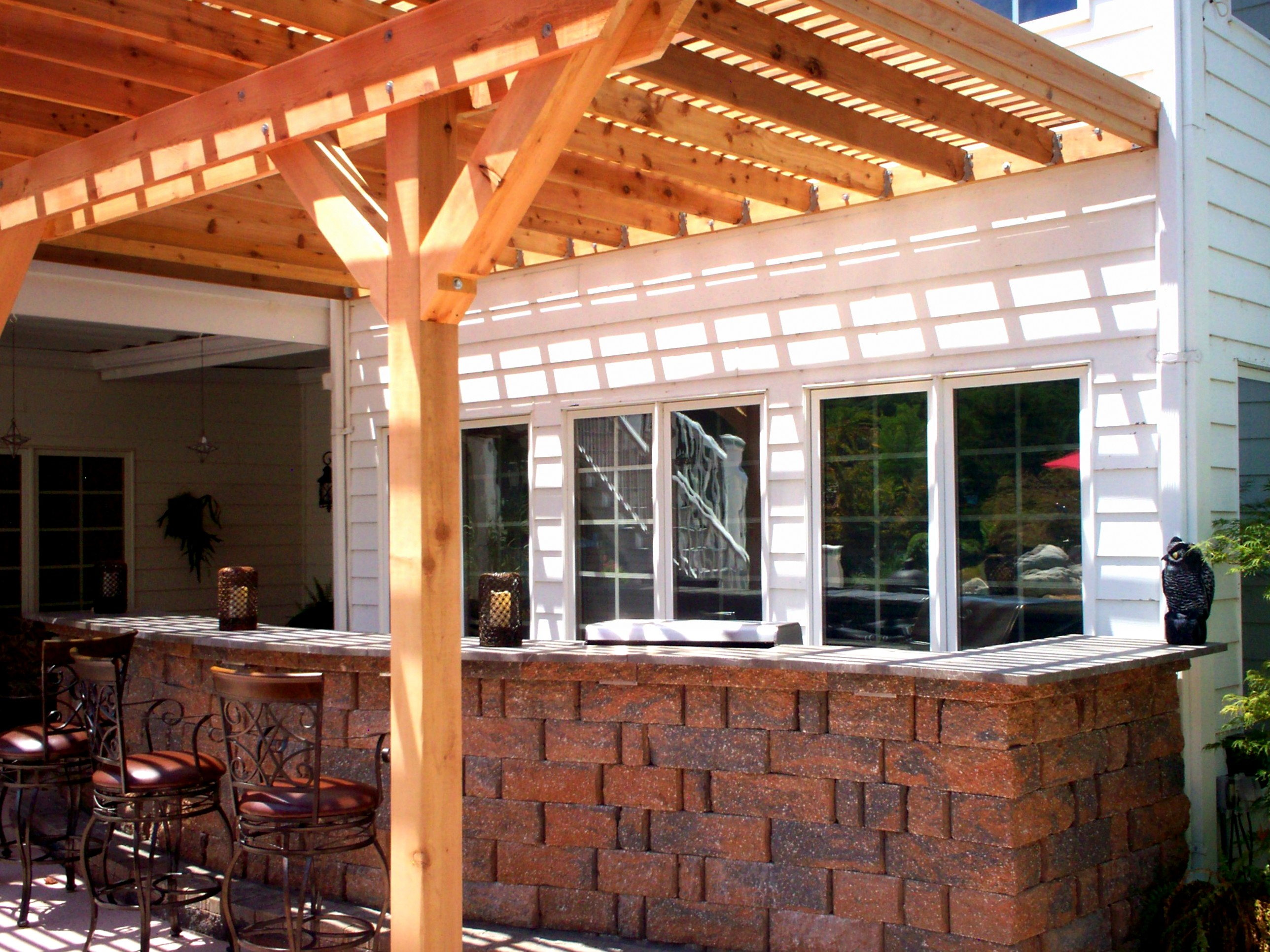 backyard shade st louis decks screened porches pergolas by