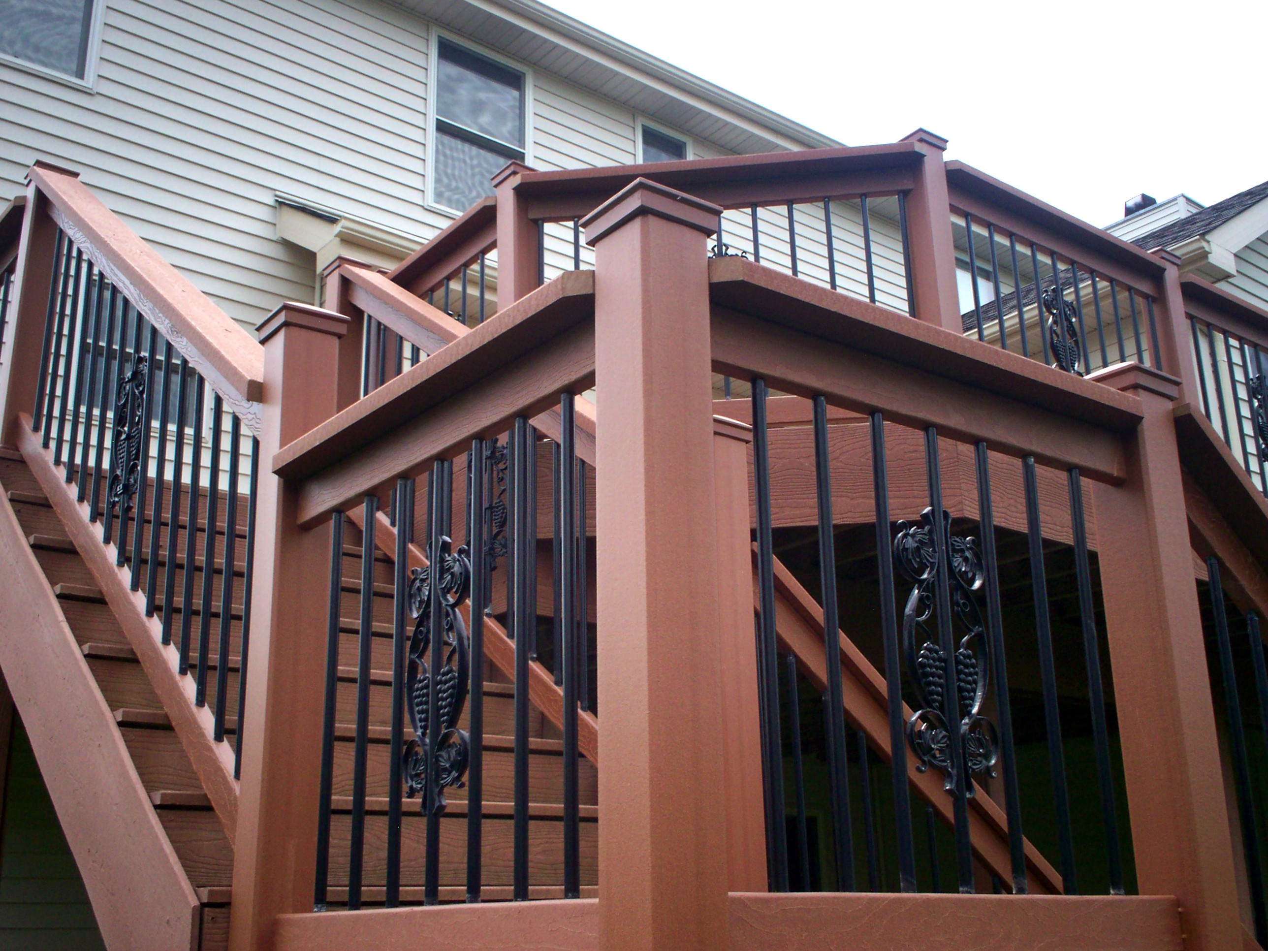 decorative deck railings. Composite Deck Railing with Decorative Balusters in St  Louis near Ballwin Decks and Express yourself a slideshow of