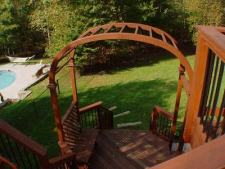 Elevated Hardwood Deck with Screened Porch by Archadeck