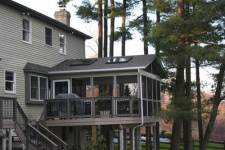 Raised Deck with Screened Porch by Archadeck