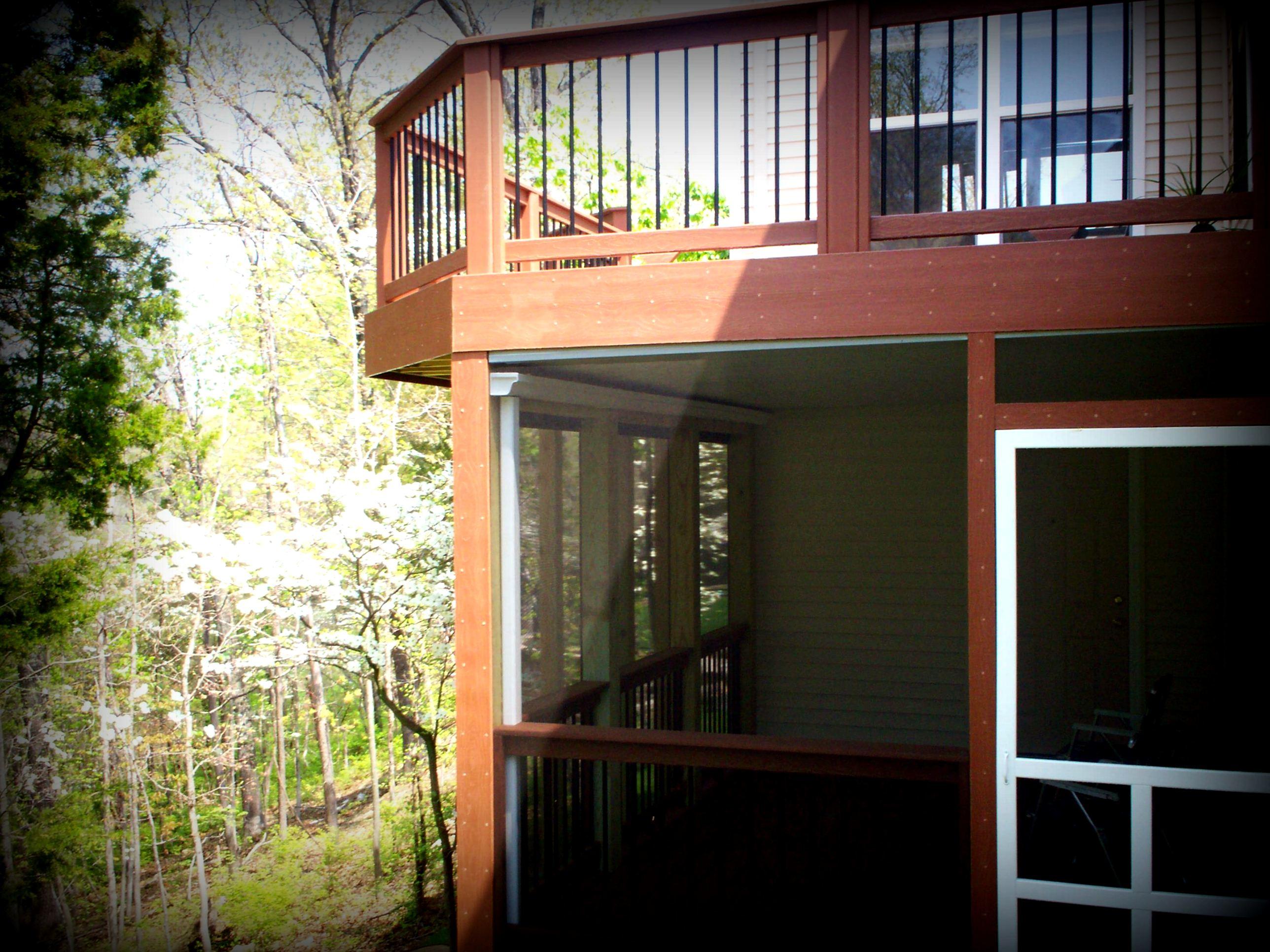 St louis deck contractor deck design ideas st louis for Under porch ideas