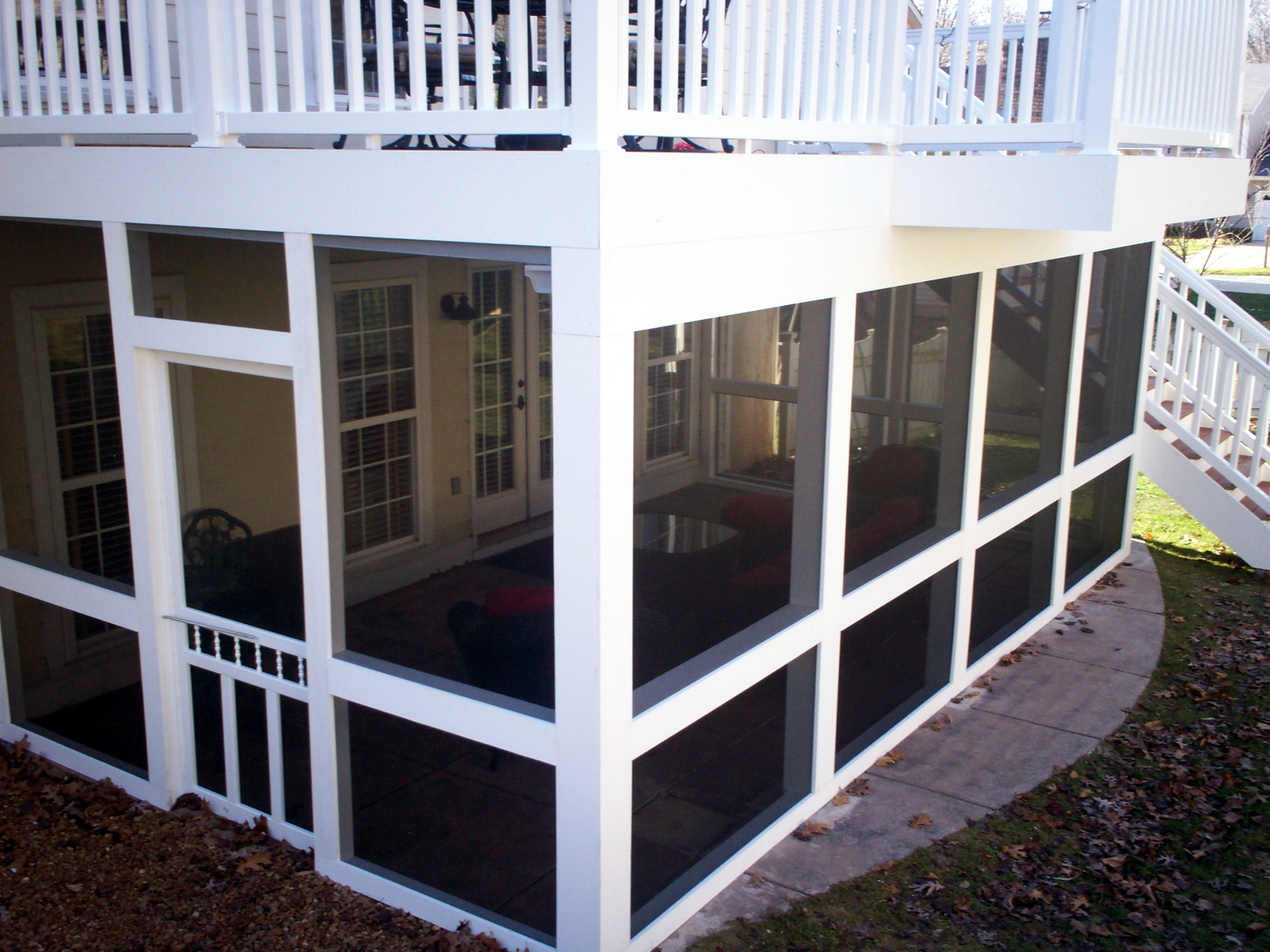 St. Louis Screened Patio Enclosures With Underdecking By Archadeck