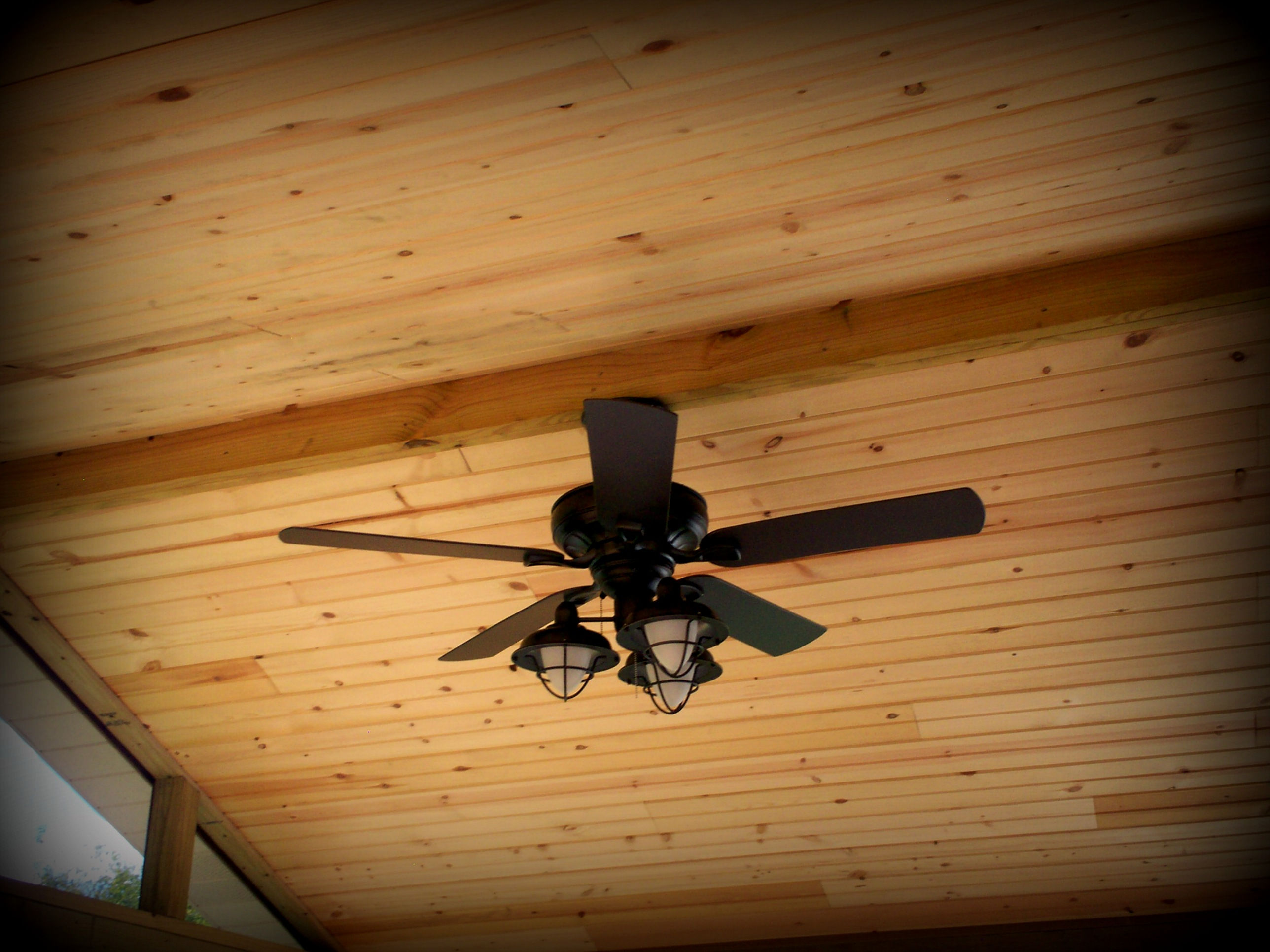 Wood Ceiling Finish For Screened Porch In St Louis