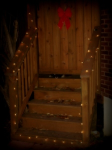 Deck in St. Louis, Mo by Archadeck with Holiday Lights