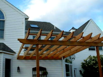 free standing pergola st louis decks screened porches