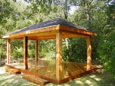 Gazebo and pavilion design ideas material color shape Wood valley designs
