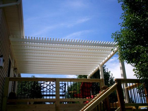 vinyl pergola building materials