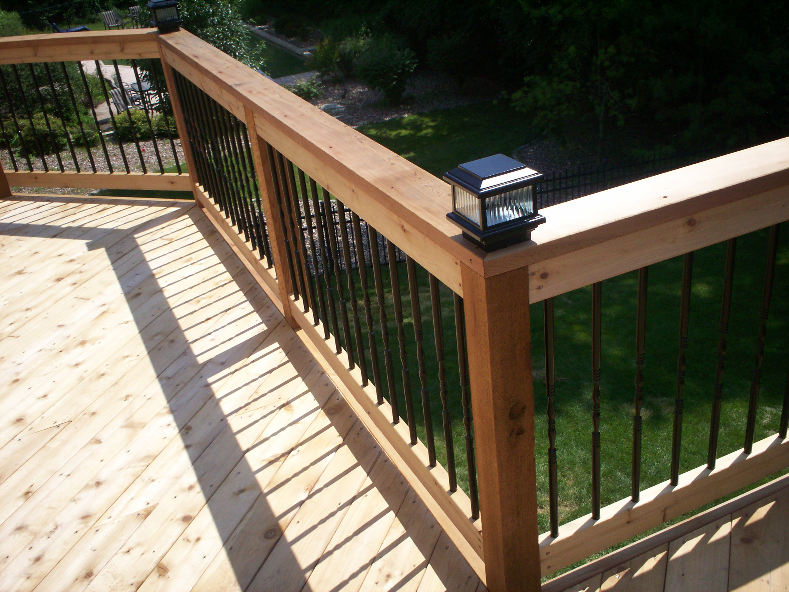 deck lighting St Louis decks screened porches pergolas by