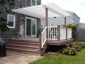 Deck with Pergola Shade Cover by Archadeck