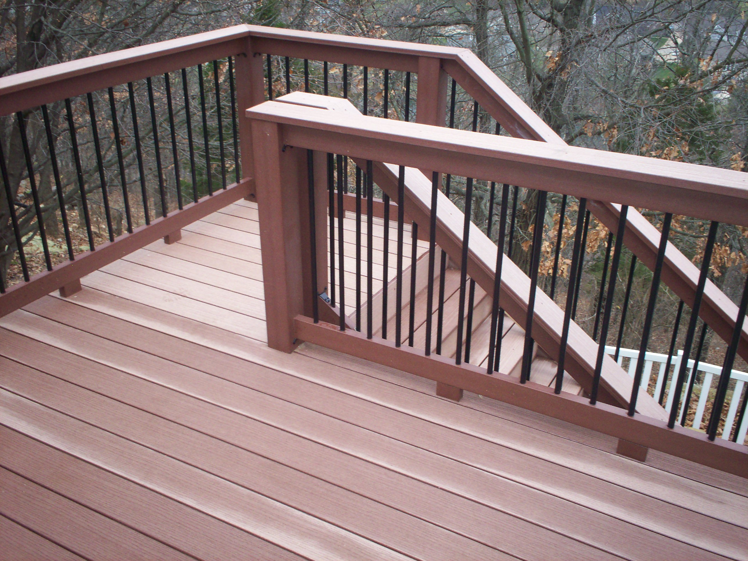 st louis decks elevated deck designs by archadeck outdoor stair railing ideas - Deck Stairs Design Ideas