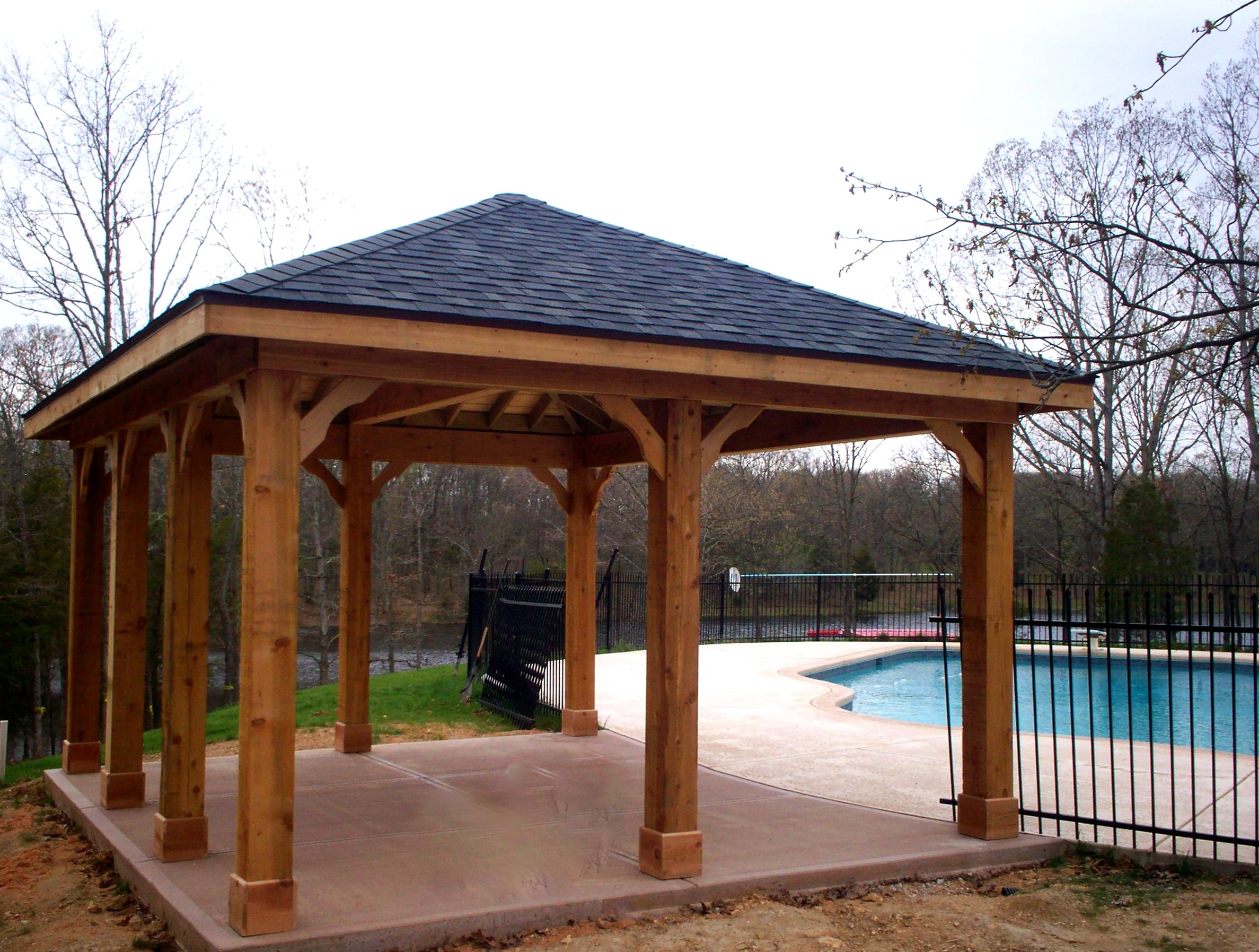 Patio covers for shade and style st louis decks for Porch canopy plans