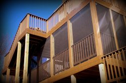 Elevated Screen Porch with Multilevel Deck, St. Louis West County by Archadeck