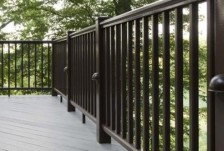 AZEK Deck Railing, Black, photo by AZEK