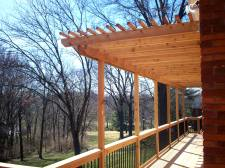 Cedar Decks with Pergolas, St. Louis, Mo, Designed and Built by Archadeck