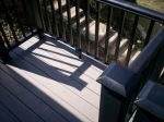 Deck in St. Louis West County, TimberTech Terrain Silver Maple