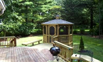 St louis decks without railing st louis decks for Built in gazebo