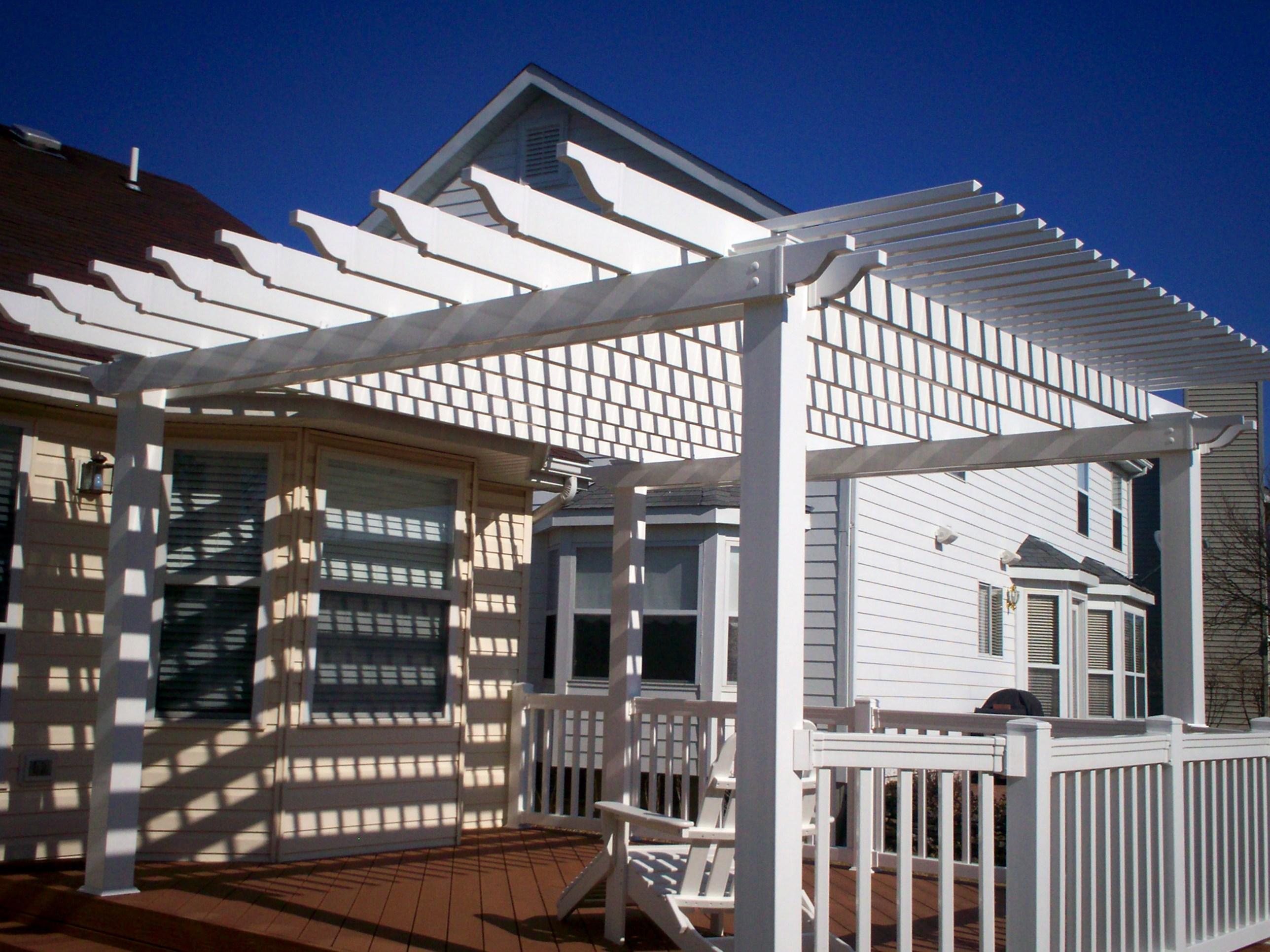 Pdf diy vinyl pergola building materials download wall for Deck building materials