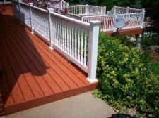 Multilevel Deck with Contrasting Railing, St. Louis, Wildwood
