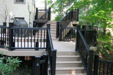 Tiered Vinyl Deck and Rails, photo courtesy of TimberTech