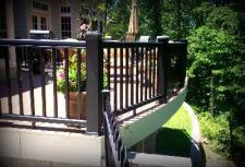 Vinyl Deck in St. Louis West County with Curved Railing