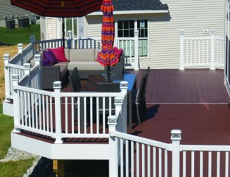 Deck rail lighting st louis decks screened porches pergolas by post cap deck lighting photo by aurora workwithnaturefo