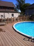 Trex Decking for Pool, photo by Trex