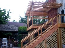 Cedar Deck and Pergola by Archadeck, Chesterfield, Mo - Under Deck Storage