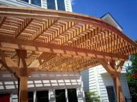Curved Pergola for Patio, St. Louis, Mo