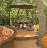 Deck Designs by Archadeck - Scenic View with Dining Area