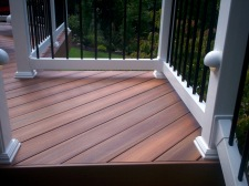 Fiberon Decking, Vinyl Rails with Lighting by Archadeck, St. Louis Mo
