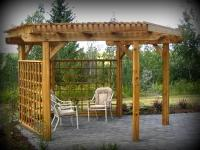 Free Standing Pergola with Privacy Screen by Archadeck