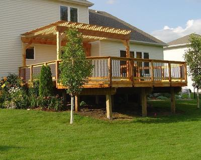 Pergola over Raised Deck - Pergola Over Raised Deck St. Louis Decks, Screened Porches