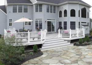 Center Deck Stair Design by Archadeck